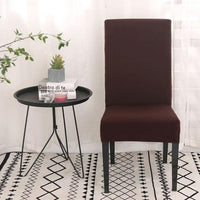 HOUSSE DE CHAISE UNIE - MARRON