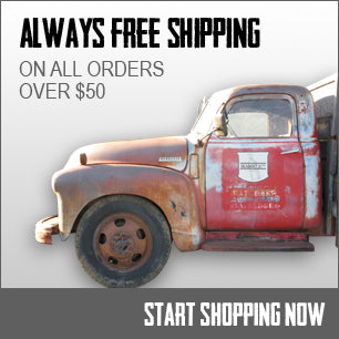 Always Free Shipping - on all orders over $50.