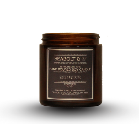 Hand Poured Soy Candle - Smoke