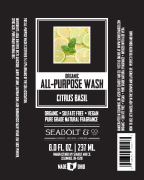 Organic All Purpose Wash - Citrus Basil