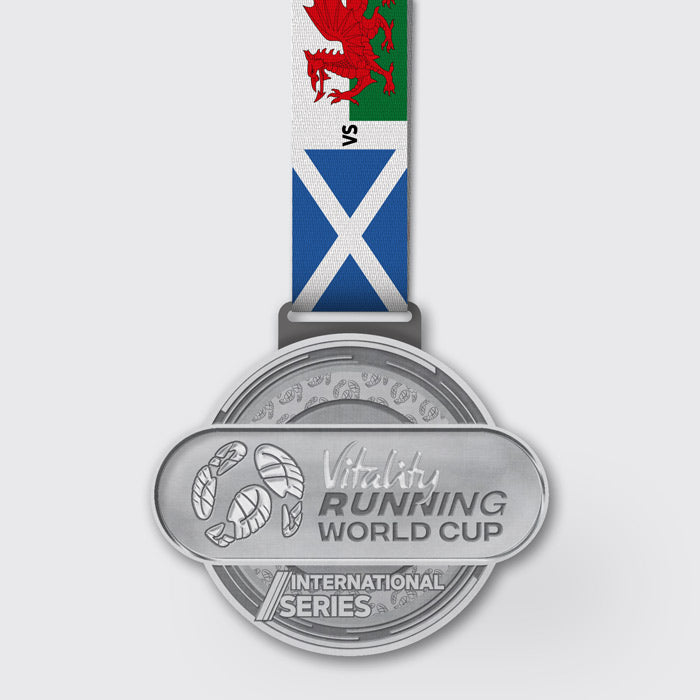 Scotland vs Wales Run Race Medal