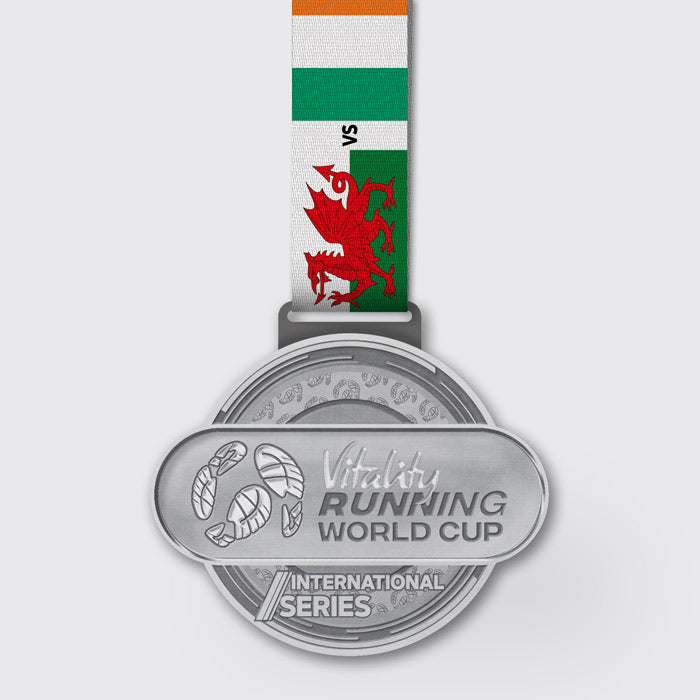 Wales vs Ireland Virtual Running Race Medal