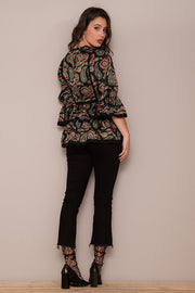 BLACK CASHMERE BLOUSE