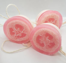 Load image into Gallery viewer, Soap on a Rope Round Loofah Bar (Variety of Scents)