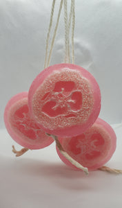 Soap on a Rope Round Loofah Bar (Variety of Scents)