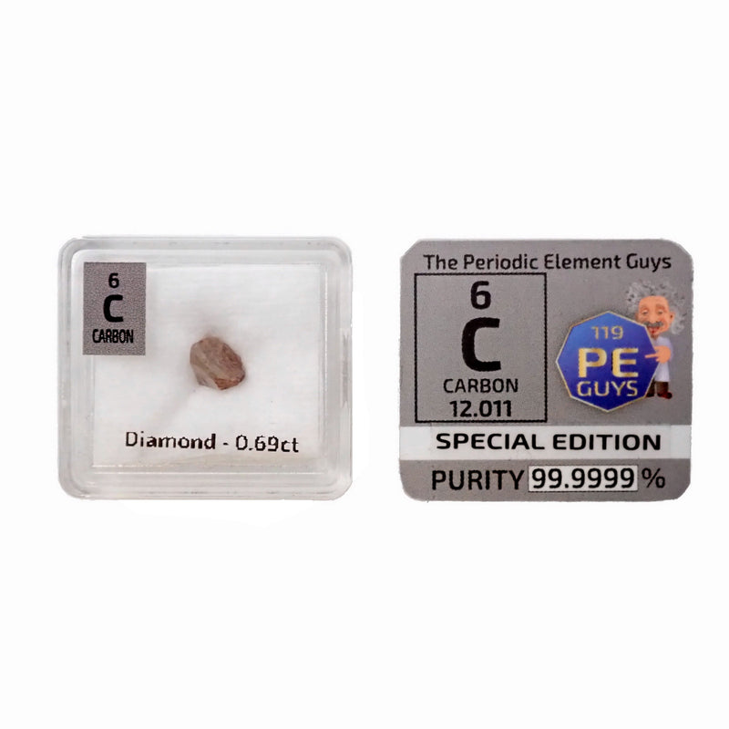0.69ct Real Carbon Diamond Piece - The Periodic Element Guys
