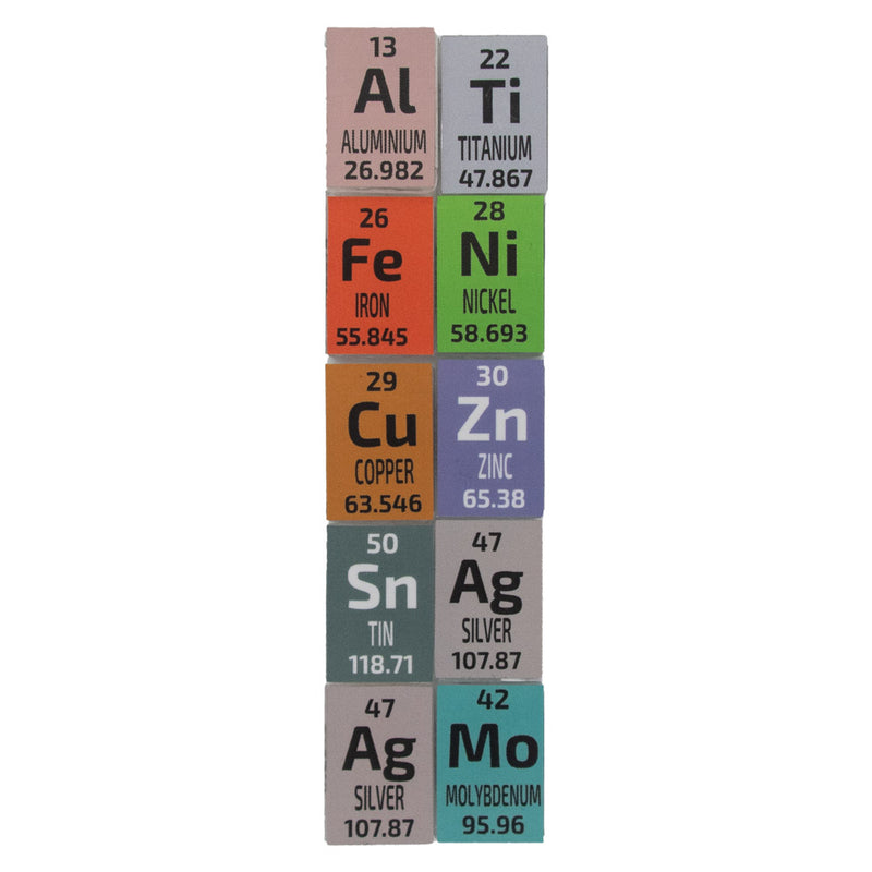 PEGUYS 10 Ingot Popular Set - The Periodic Element Guys