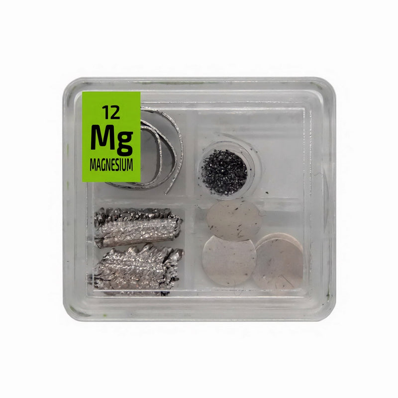 Magnesium Metal Ribbon Powder Crystal Foil Quad Element Tile Pure - Periodic Table - The Periodic Element Guys