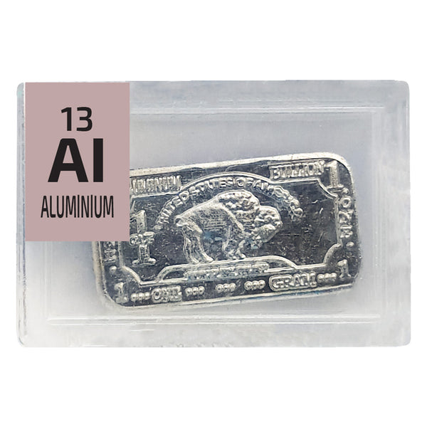 Aluminium Ingot Periodic Element Tile - Small - The Periodic Element Guys