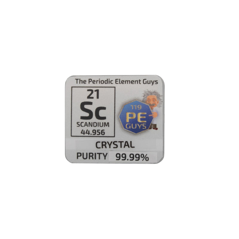 Scandium Crystalline Periodic Element Tile - The Periodic Element Guys