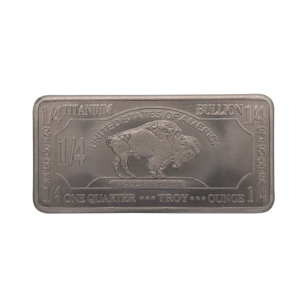 Titanium Metal Bullion Bar 1/4 Oz, 10 Grams .999% Pure - The Periodic Element Guys