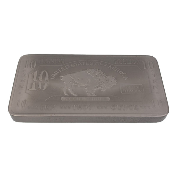 Titanium Metal Bullion Bar 10 Oz  .999% Pure - The Periodic Element Guys