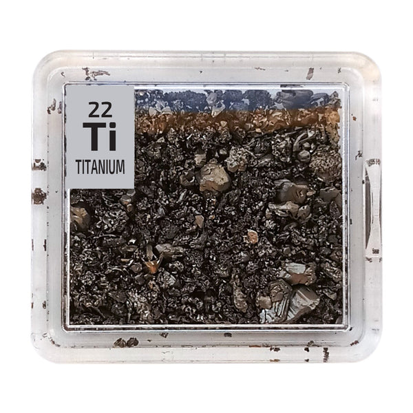 Titanium Metal Crystals Periodic Element Tile - The Periodic Element Guys
