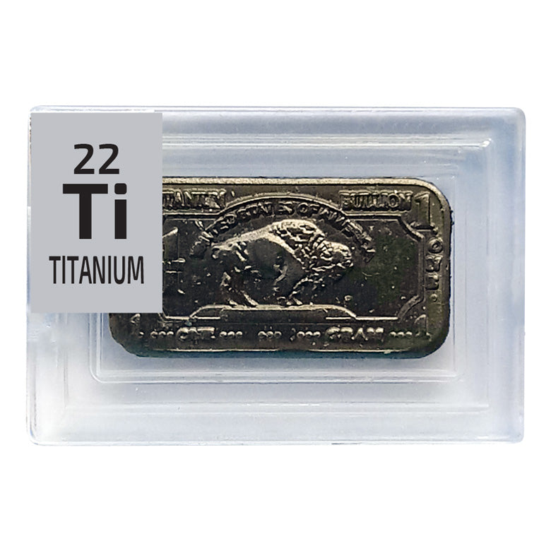 Titanium Bullion Ingot Periodic Element Tile - The Periodic Element Guys