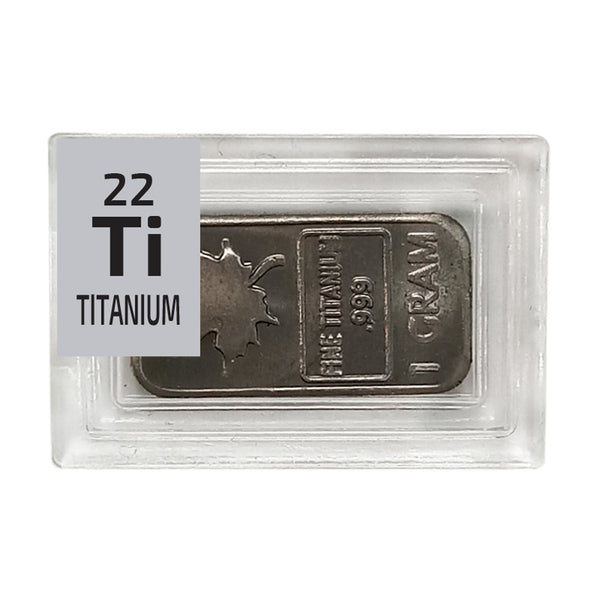 Titanium Maple Ingot Periodic Element Tile - Small - The Periodic Element Guys