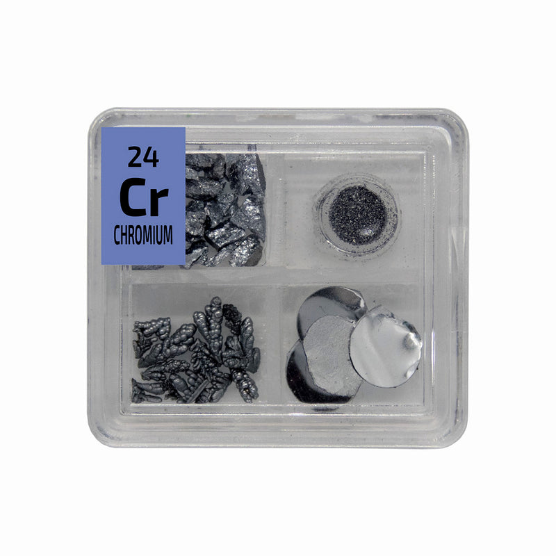 Chromium Metal Grain Powder Trees Foil Quad Element Tile Pure - Periodic Table - The Periodic Element Guys
