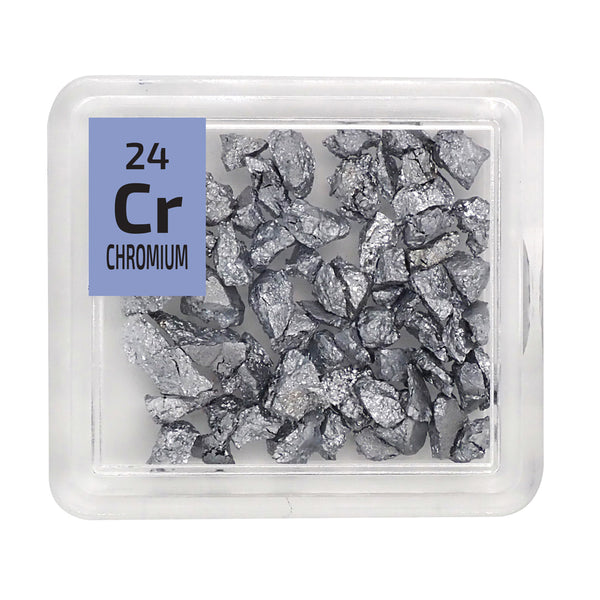 Chromium Grains Periodic Element Tile - The Periodic Element Guys