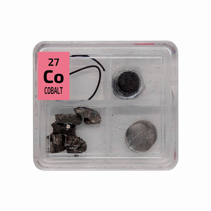 Cobalt Metal Wire Powder Pieces Foil Quad Element Tile Pure - Periodic Table - The Periodic Element Guys