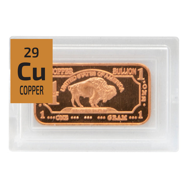 Copper Bullion Ingot Periodic Element Tile - The Periodic Element Guys