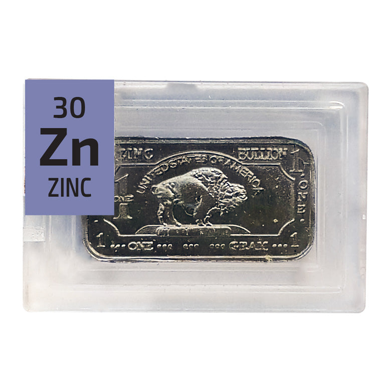 Zinc Ingot Periodic Element Tile - The Periodic Element Guys