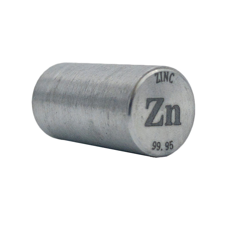 Zinc Rod 99.95% Purity 20mmx10mm - The Periodic Element Guys