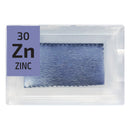 Zinc Foil Periodic Element Tile - Small - The Periodic Element Guys