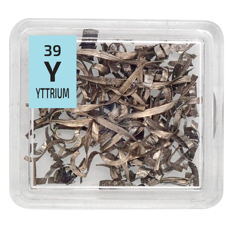 Yttrium Metal Turnings Periodic Element Tile - The Periodic Element Guys