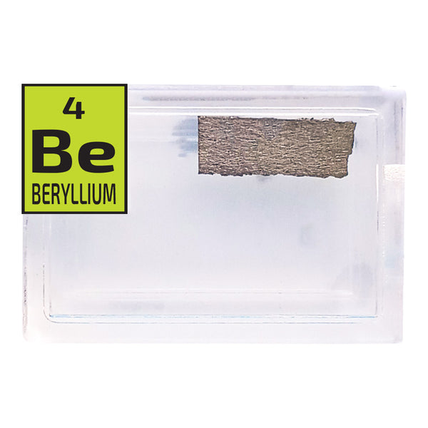 Beryllium Foil Periodic Element Tile - -Small - The Periodic Element Guys