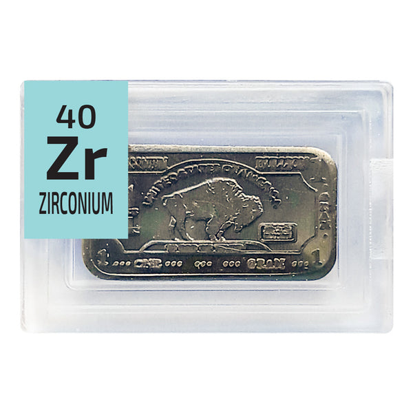 Zirconium Ingot Periodic Element Tile - The Periodic Element Guys