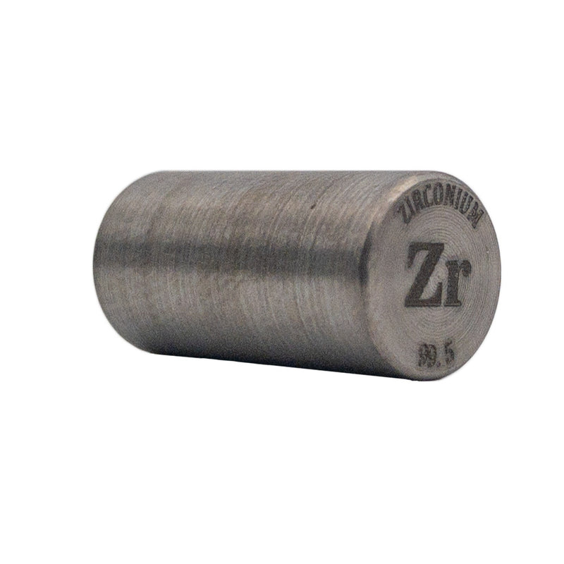 Zirconium Rod 99.5% Purity 20mmx10mm - The Periodic Element Guys