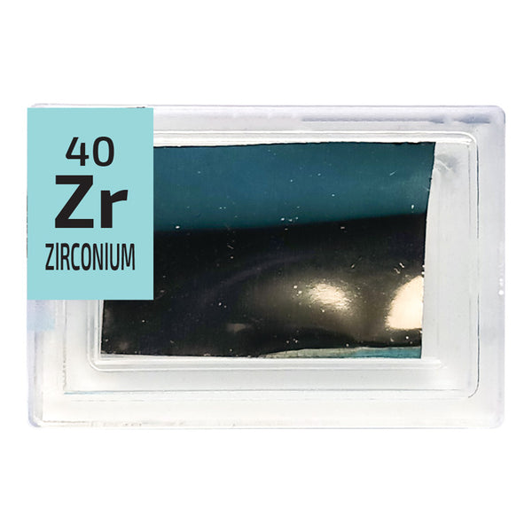 Zirconium Foil Periodic Element Tile - Small - The Periodic Element Guys