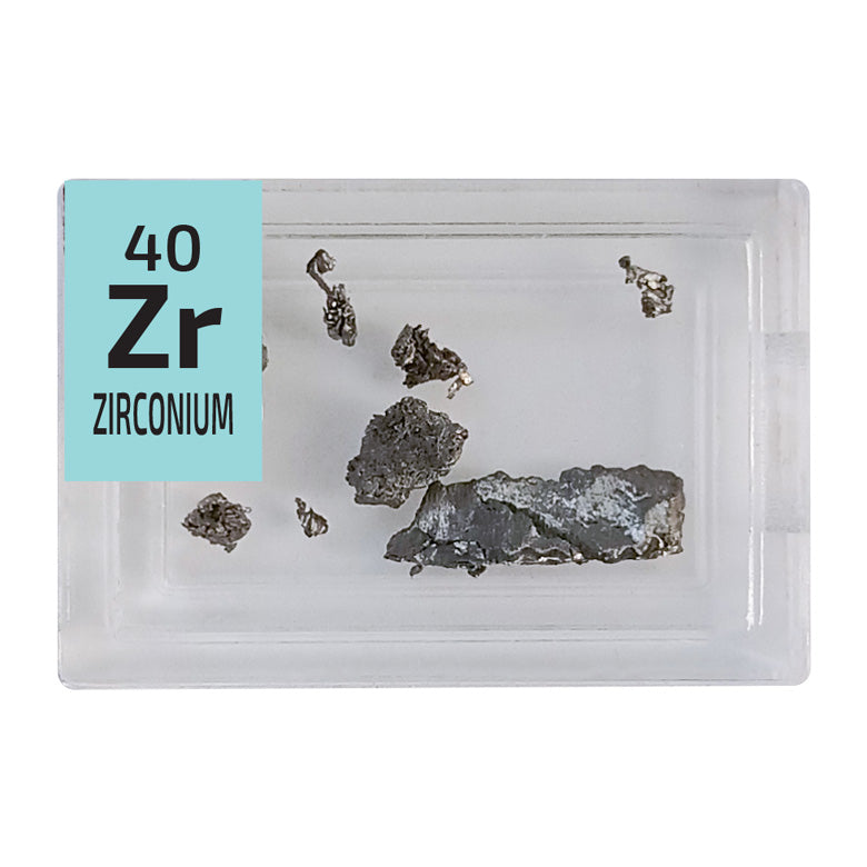 Zirconium Pieces Periodic Element Tile - Small - The Periodic Element Guys