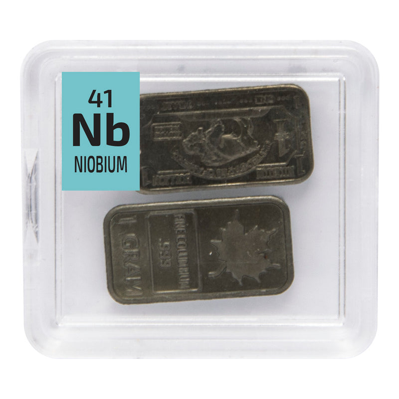 Niobium Maple Ingots Periodic Element Tile - The Periodic Element Guys