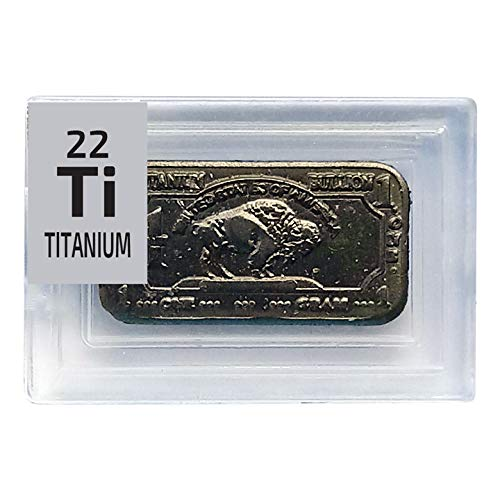 99.9% Pure Gold Plated Titanium Metal 1 Gram Bar Ingot - The Periodic Element Guys