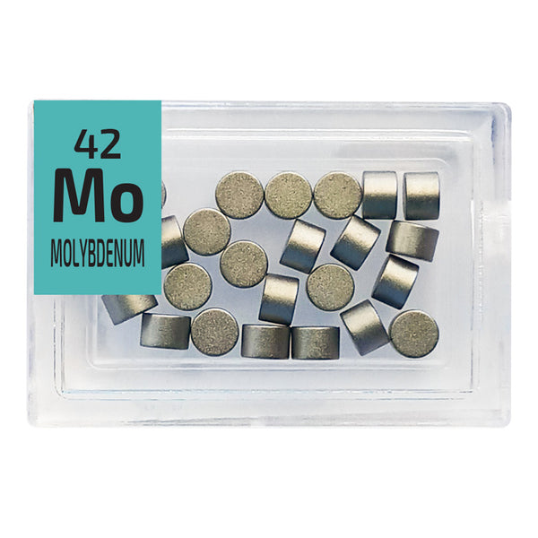 Molybdenum High Purity Disks Periodic Element Tile -Small - The Periodic Element Guys