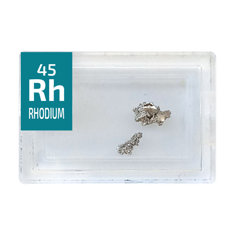 Rhodium Crystalline Periodic Element Tile - Small - The Periodic Element Guys