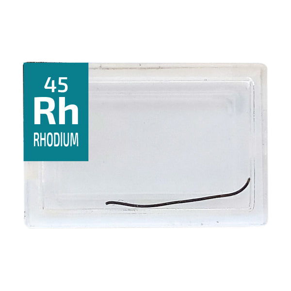 Rhodium Wire Periodic Element Tile - Small - The Periodic Element Guys