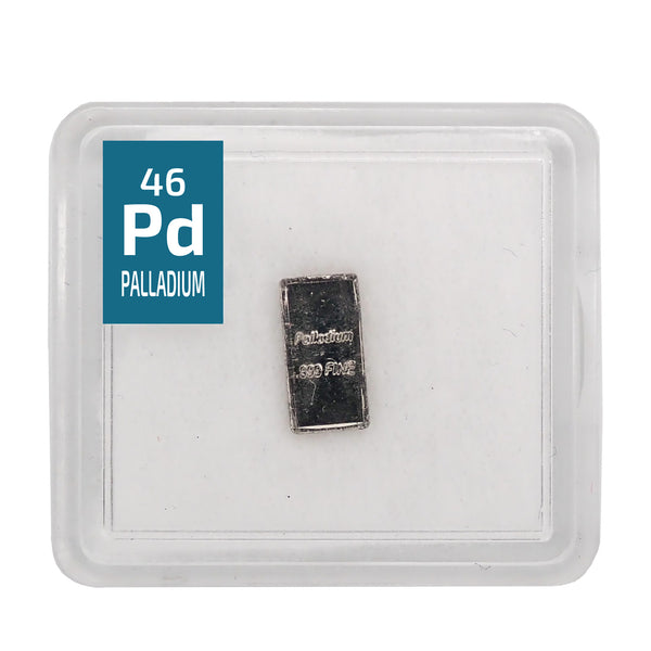 Palladium Ingot 5 Grain Periodic Element Tile .999 - The Periodic Element Guys