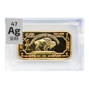 Silver Bullion Ingot (Gold Plated) Periodic Element Tile - The Periodic Element Guys