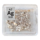 Silver Metal Rare Lab-grown Element Sample - 1g Crystals - Purity: 99.999% - The Periodic Element Guys