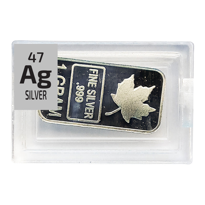Silver Maple Ingot Periodic Element Tile - Small - The Periodic Element Guys