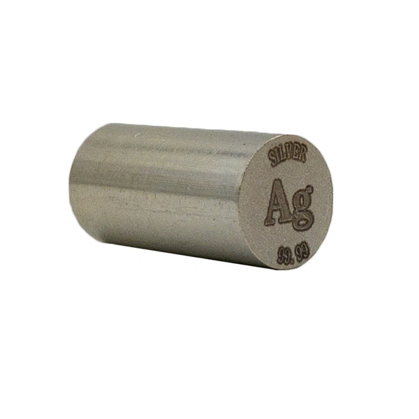Silver Rod 99.99% Purity 20mmx10mm - The Periodic Element Guys