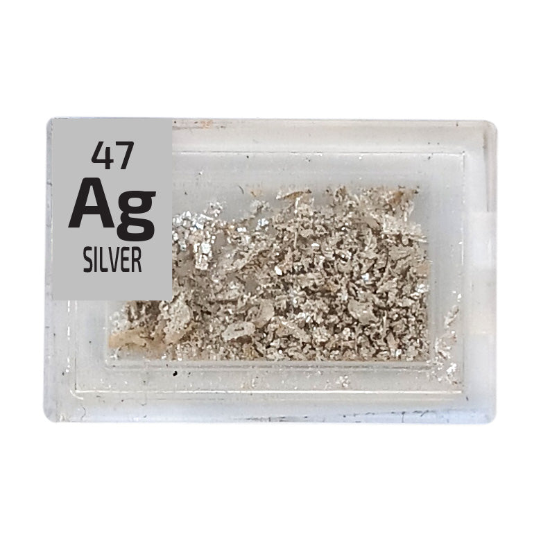 Silver Crystalline Pieces Periodic Element Tile - Small - The Periodic Element Guys