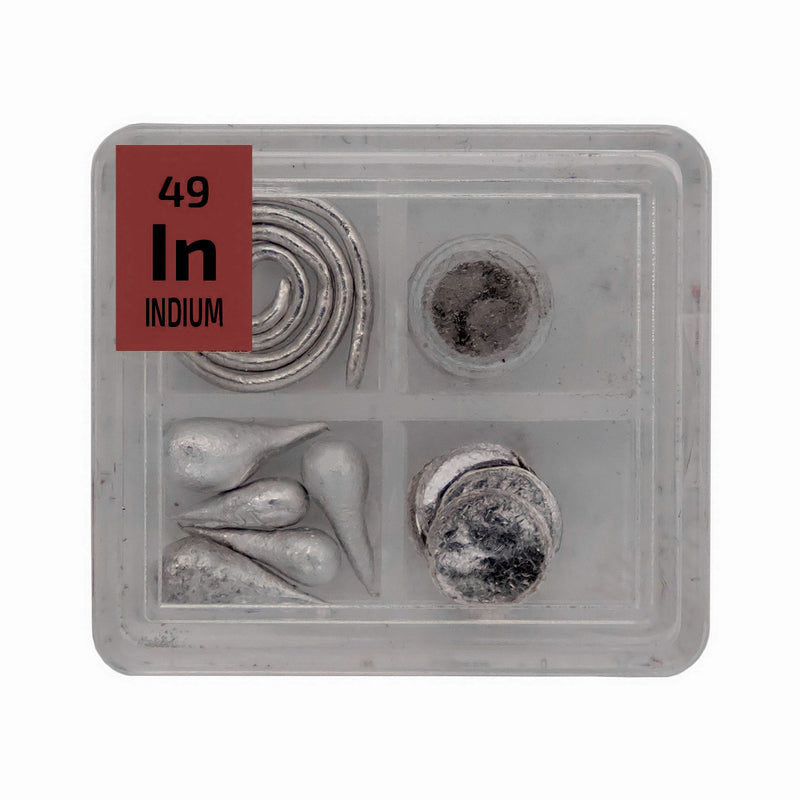 Indium Metal Wire Powder Pellets Foil Quad Element Tile Pure - Periodic Table - The Periodic Element Guys