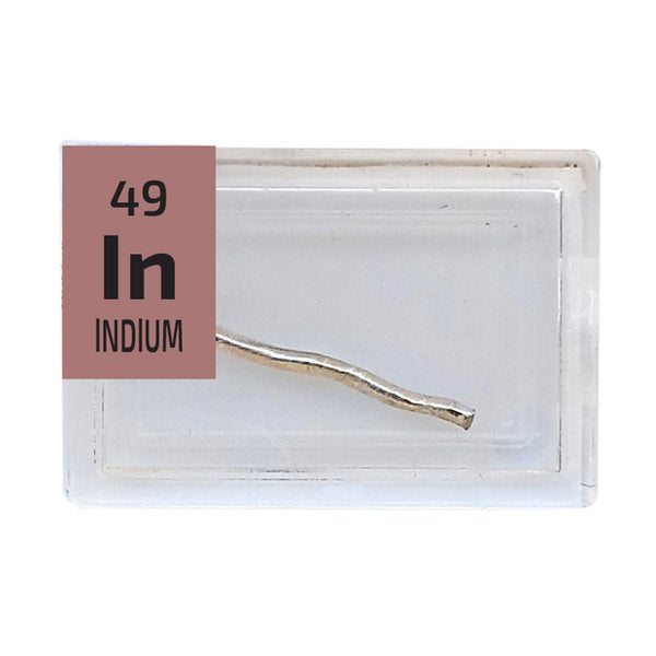 Indium Wire Periodic Element Tile - Small - The Periodic Element Guys