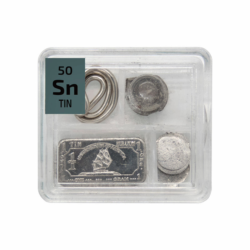 Tin Metal Wire Powder Ingot Foil Quad Element Tile Pure - Periodic Table - The Periodic Element Guys