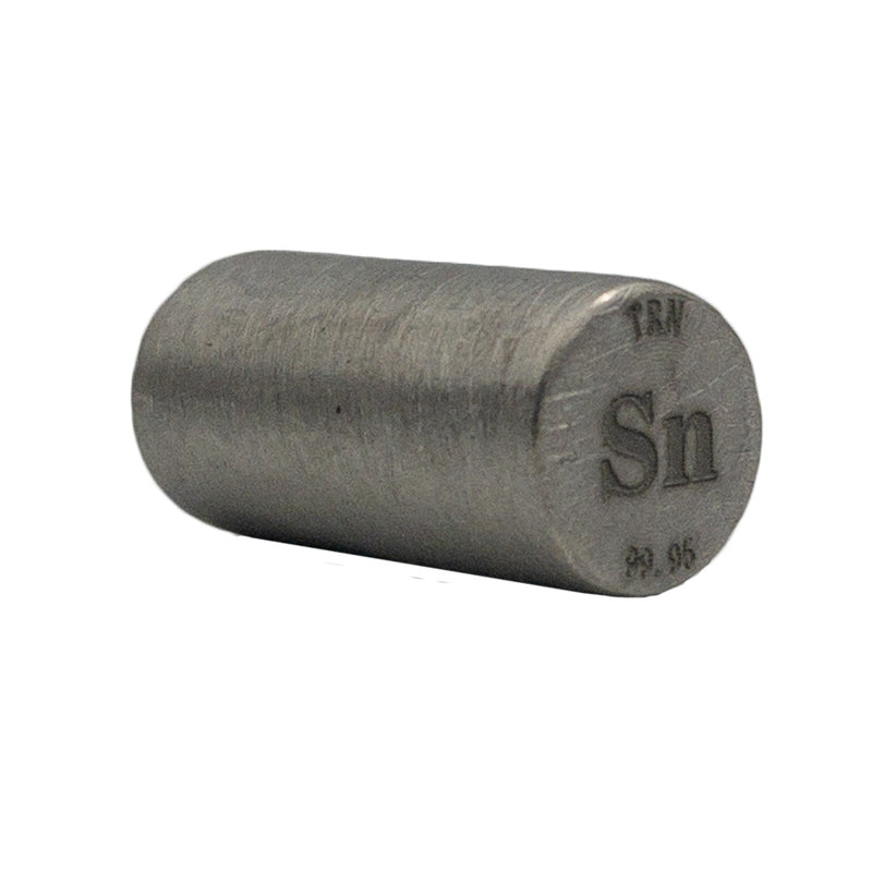 Tin Rod 99.95% Purity 20mmx10mm - The Periodic Element Guys