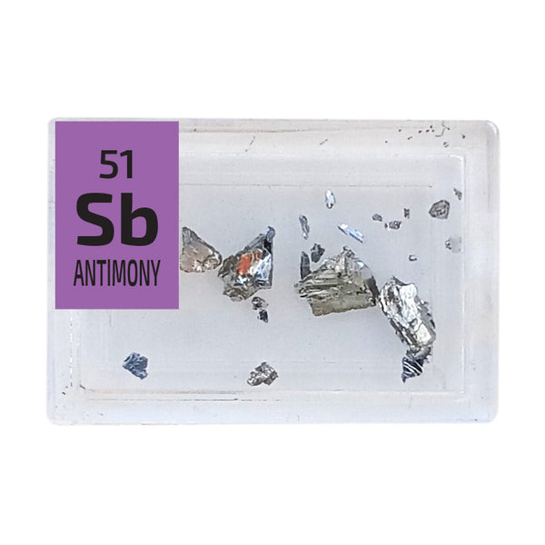 Antimony Pieces Periodic Element Tile - Small - The Periodic Element Guys