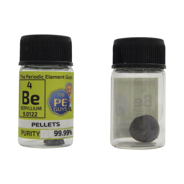 Beryllium Metal Element Sample - 0.7g Pellets - Purity: 99.99% - The Periodic Element Guys