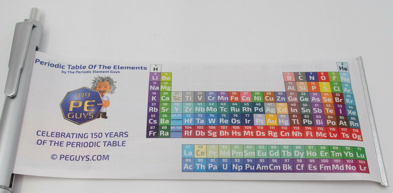 PEGUYS Periodic Table of Elements Banner Pen. Limited Edition Chemistry gift Pen - The Periodic Element Guys